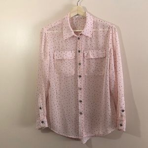 Two by Vince Camuto Sheer Blouse